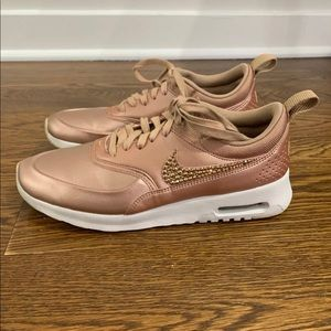 Rose Gold Nike's with Crystals!